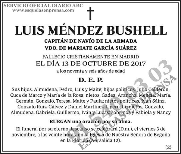 Luis Méndez Bushell